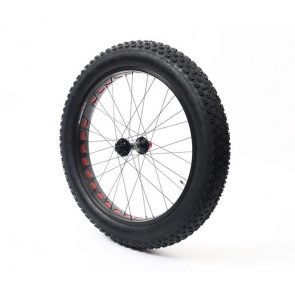 Anvil Square Rolls Complete Wheel Set Rear 190mm QR Hub 82Rim Black