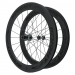 Knight Composites 65W-Dt Swiss 240s Carbon Clincher Rear Wheelset- 700c Black