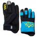 Race Face Dewey Youth Gloves Blue-Yellow