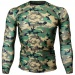 Btoperform Camo Wood Full Graphic Compression Long Sleeve Shirts FX-111W
