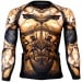 Btoperform Dark Knight - Gold Full Graphic Compression Long Sleeve Shirts FX-135G