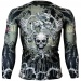 Btoperform Skull Roses Khaki Full Graphic Compression Long Sleeve Shirts FX-139H