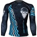 Btoperform Rock You Blue Full Graphic Compression Long Sleeve Shirts FX-141B