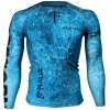 Btoperform Grunge Blue FX-107B Compression Top MMA Jersey Shirts