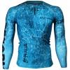 Btoperform Grunge Blue FX-107B Compression Top MMA Jersey Shirts