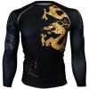 Btoperform Golden Dragon Full Graphic Compression Long Sleeve Shirts FX-164