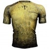 Btoperform Grunge -Yellow Full Graphic Compression Short Sleeves Shirts FX-307Y