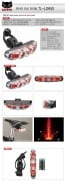 Cateye TL-LD650 bicycle safety lamp rear light LED