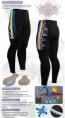Fixgear Bicycle Cycling Mens Tights Gel Padded LT2