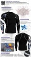 Fixgear Compression BaseLayer Skin Tight Shirt CP-b17
