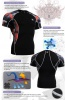 Fixgear Printed BaseLayer Compression Skin Top Tights Short Sleeves Shirts C2S B30